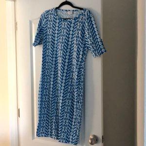 Lularoe julia dress, never worn, size medium